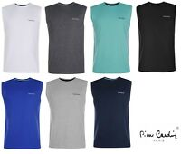 Mens Designer Pierre Cardin Tank Top Summer Sleeveless Vest Size S M L XL - New