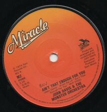 JOHN DAVIS & THE MONSTER ORCHESTRA ain't that enough for you*disco fever UK 1979