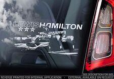 Lewis Hamilton - Car Window Sticker - Formula 1 F1 Champion Decal Gift Art -TYP4