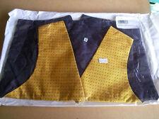 "Showquest UK 28"" Equestrian Show Waistcoat. Sunshine & Blue Pattern. BRAND NEW"