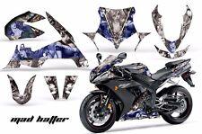 AMR Racing Graphics Decal Wrap Kit Yamaha R1 Street Bike 2004-2005 HATTER BLUE