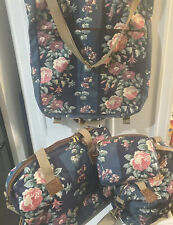 Vintage Laura Ashley four piece luggage set FREE SHIPPING