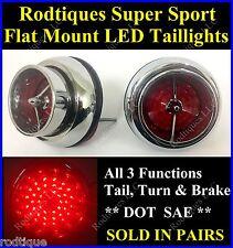 Flat Mount Red LED Taillights Turn Signal Brake Light Running Lights SS63 - 2