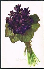 FRENCH POSTCARD A BUNCH OF VIOLETS 1919 - BARDE