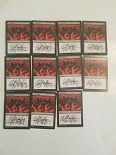 Dark Ritual X 1   Signed by Clint Langley  MTG Magic The Gathering
