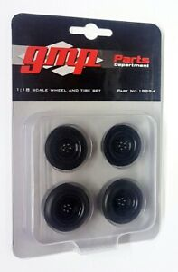 GMP 1/18 Scale - Gasser Hot Rod Drag Black Wheel & Tyre Set Model Cars Diorama