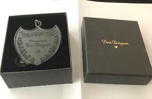 DOM PERIGNON CHAMPAGNE KEY RING HANDBAG CHARM IN CUSTOM DOM P BRANDED BOX
