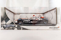 Hot Wheels Racing McLaren MP4-21 Kimi Raikkonen Silver F1 1:18 Diecast Car