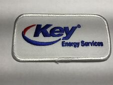 Key Energy Services American Oilfield Oil Company Logo Red Blue Iron Sew Patch E