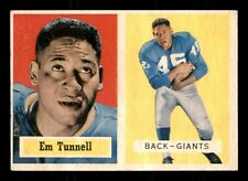 EM TUNNELL 1957 TOPPS 1957 NO 35 EX+ 19289