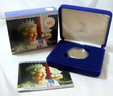 2002 SILVER PROOF CROWN £5 COIN THE QUEENS GOLDEN JUBILEE CASED WITH COA FDC