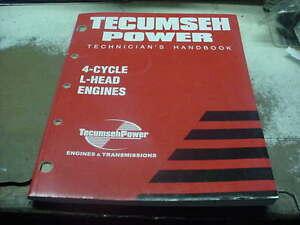 TECUMSEH 3-11 HP SMALL ENGINE PARTS TECHNICIAN REPAIR MANUAL SHOP BOOK