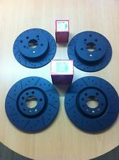 Vauxhall Astra VXR 2.0T mk5 Front Rear MTEC Black Edition Brake Discs And Pads