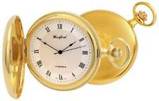 Woodford Full Hunter Gold Plated Mechanical Pocket Watch Sweep Second Hand 1028