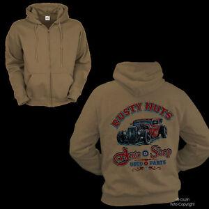 * Jacke Zip Oldtimer Kustom Hot Rod Vintage Old School Sweat-Shirt *1177 JT