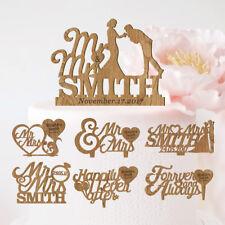 Personalised Wedding Cake Topper Romantic Wooden Images Keepsake Decoration