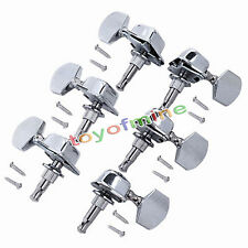 6 x Chrome Guitar String Tuning Pegs Tuners Machine Heads Acoustic Electric Part