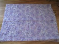 LOVELY SHEER PURPLE FLORAL CHIFFON LIKE MATERIAL FABRIC - 112CM X 350CM CHEAP