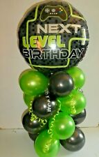 FOIL BALLOON TABLE DISPLAY NEXT LEVEL BIRTHDAY GAMING GAMER - AIR FILL NO HELIUM