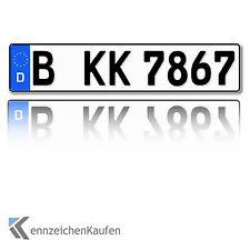 1 Kfz Kennzeichen Eurovariante in der Größe 520 mm x 110 mm