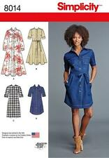 Simplicity Sewing Pattern Misses Shirt Dresses With Length Variations 6-24 8014 H5 6 - 14