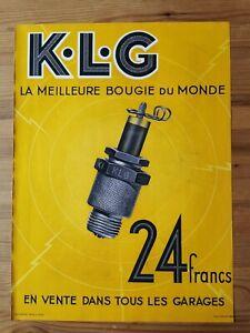 1935 Reklame Werbung 2 / KLG Zündkerze Auto