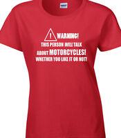 Motorcyclist Ladies T-Shirt Funny Hobby Statement Motorbike Motorcycle Mechanic