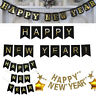Garland Glitter Happy New Year Photo Booth Props Bunting Banner Hanging Flag