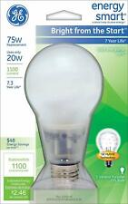 Lot/2pcs GE Energy Smart  Bright from the Start Soft White 20W=75W Bulb 1100 Lum