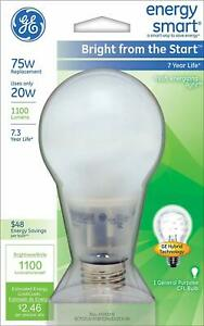 GE Energy Smart  Bright from the Start Soft White 20W=75W  Light Bulb 1100 Lumen