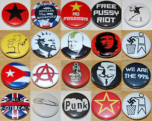 ANARCHY, PUNK & REVOLUTION (Various Designs) Button Badge 25mm / 1 inch PROTEST