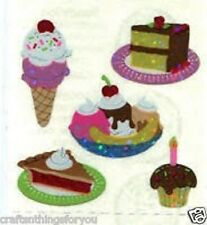 Sandylion Glittery DESSERTS CAKE ICE CREAM CUP CAKE Stickers *FAST SHIP* H41