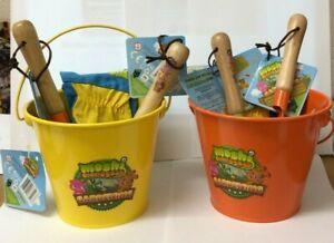 kids Gardening Tool Set (Bucket/ Shovel/ Garden folk/ gloves)  Moshi Monsters