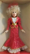 "Dolly Parton In Concert 18"" Vinyl Doll in Red Dress Doll Goldberger in Orig Box"