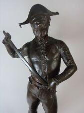 """Paul Dubois """"personnage de la Commedia dell 'Arte"""" bronzeguss pour 1900, signée"""