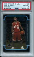 2003 Bowman Chrome Basketball #123 Lebron James Rookie Card Graded NM MINT 8