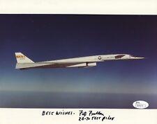 FITZ FULTON HAND SIGNED 8x10 PHOTO      NASA TEST PILOT IN XB-70    RARE     JSA