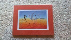 Judy Prosser Prints-Jabiru Billabong & Sprite with Brolgas, NT, Australia-Matted