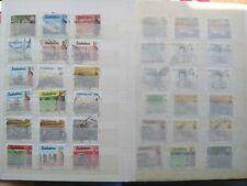 More details for 150 plus zimbabwe stamps in small stock book.