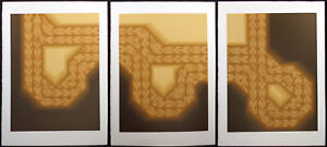 "David Kroos ""The Passage I, II, III"" Signed Numbered Serigraph Art Triptych OBO!"