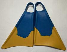 Churchill Makapuu Swimfins Large Blue Yellow Mens Size 11-12.5 Swimming Surf