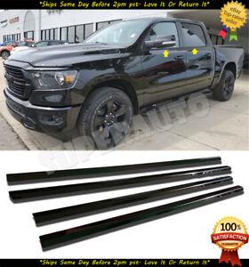 Fits 2019-20 RAM 1500+2500+3500 CREW CAB Titanium Black Window Sill Overlay