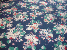 1 Lfm Jersey 2,90€/m²  145cm breit Singlejersey blau bunte Blumen G7
