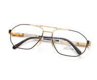 Vintage Hilton Class 51 C3 22kt Gold Plated Unisex Designer Eyeglasses Optical