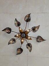 Plafoniera LAMPADARIO IN FERRO BATTUTO con giglio diam 50 cm
