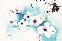 RARE Spring flowers by Desyatkova Russian modern postcard