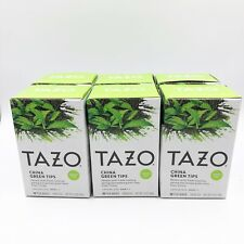 6X Tazo Green Tea China Green Tips 20 Tea Bags Each
