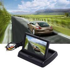 """Monitor de aparcamiento retrovisor coche auto 4.3"""" Plegable Pantalla LCD a color inversa"""