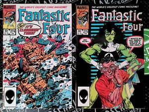 Fantastic Four #274 275 276 277 1985 Marvel She-Hulk Controversial Stan Lee