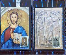 STAMPS 2 CARD MAXIMUN VATICAN CITY POPE (L7289)